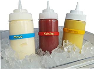 Condiment Kit A: Squeeze Bottle Labels: (1) Ketchup, (1) Mustard, (1) Mayo