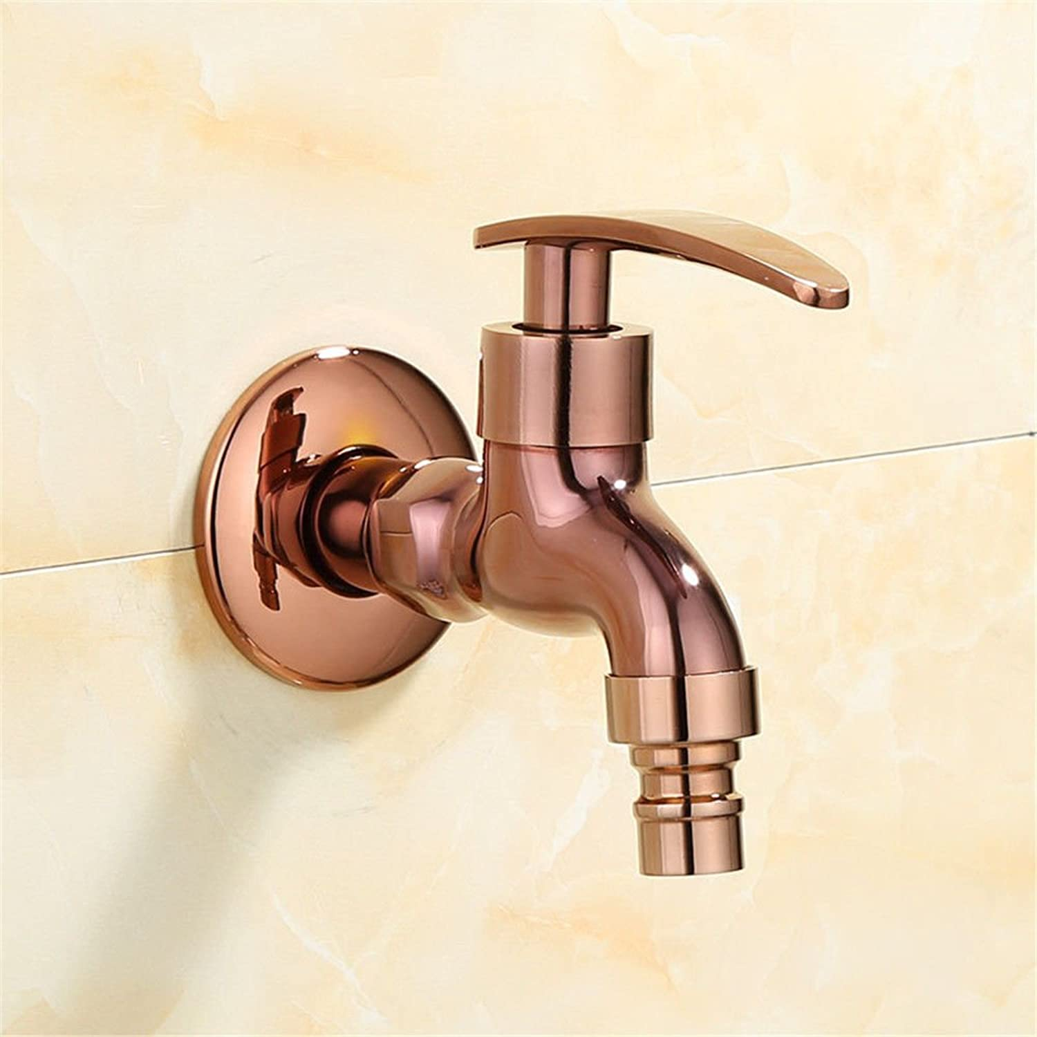 Lpophy Bathroom Sink Mixer Taps Faucet Bath Waterfall Cold and Hot Water Tap for Washroom Bathroom and Kitchen Jade pink gold Copper Fast Water Single Cold A