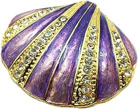Bciou Scharnierende Snuisterijdoos voor meisjes handgemaakte schelp Snuisterijdozen versierd voor vrouwen