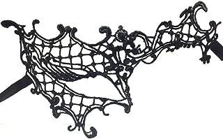 Topshop Charming Women Half Eye Venetian Masquerade Mask (Black)