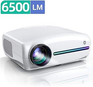 """VIVIMAGE EX3 1080pフルHDプロジェクター 6500lm高輝度1920 x 1080解像度4K対応 4D±50°台形補正 10Wスピーカーx2 300""""大画面 USB/HDMI/AV/VGA対応 ビジネス/ホームシアターに適用"""