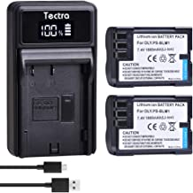Tectra 2-Pack BLM-01 Replacement Battery and LED USB Charger for Olympus BLM-1, BLM-01, PS-BLM1 and Olympus C-5060, C-7070, C-8080, E-1, E-3, E-30, E-520, EVOLT E-300, E-330, E-500, E-510 Cameras