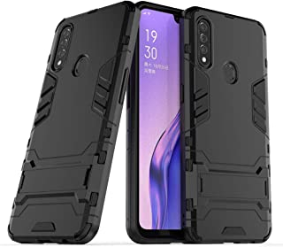 Ikwcase OPPO A8 Case Dual Layer Shockproof Anti-scratch TPU +PC Hybrid Heavy Duty Armor Protective Stand Case Cover for OP...
