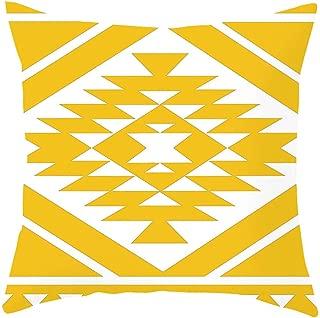Yu2d 枕カバー 黄色 パイナップルリーフ ソファ 車 ウエスト スロー クッションカバー ホームデコレーション (A、B、C、D、E、F、G、H、I、J、K、L、M、N、O、P) 標準 Yu2d 0023