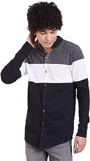 PAUSE Multi Striped Mandarin Slim Fit Full Sleeve Men's Shirt