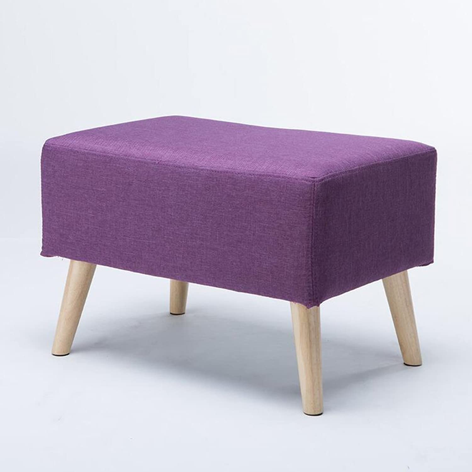 YCS Sofa Stool Cloth Cover Wooden Legs Low Stool shoes Stool Clothing Store Bedroom H40  W60cm (color   2)