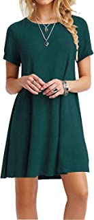 casual dress green