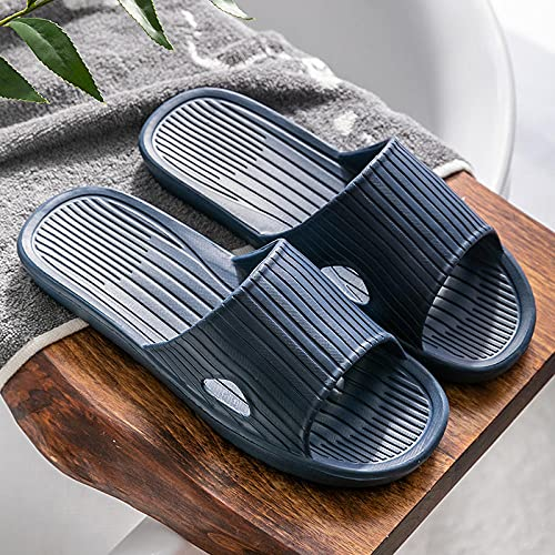 JFHZC Zapatillas de Ducha,Ropa Interior de Verano para Mujer Zapatillas de casa silenciosas Antideslizantes, Sandalias y Zapatillas de baño con Fondo Suave para Hombres-Blue_41 / 42EU