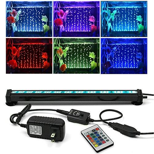 SZMiNiLED LED Aquarium Bubble Lights, 11.8inch/30cm Fish Aquarium Underwater Lights kit with 24key Controller for Fish Tank