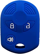 SEGADEN Silicone Cover Protector Case Skin Jacket fit for FORD 3 Button Remote Key Fob CV2705 Black