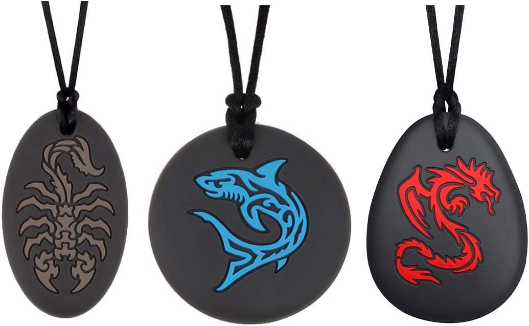 Munchables Dragon Scorpion Shark Sensory for Adult Chew 公式サイト 特売 Necklace