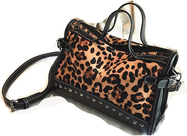 WMQQ Handtasche Damentasche Leopardendruck Atmosphäre wild Messenger Bag Umhängetasche Kissen Kissen Kissen Tasche B07K8LMYBD  Überlegene Materialauswahl b35404
