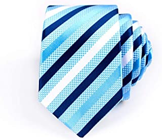 DIEBELLAU Tie Men's Polyester Business Stripe Cashew Flower Tie Animal Bird Bunny Jacquard 6cm Narrow Tie (Color : 5)