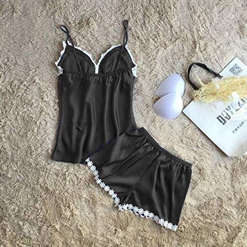 MEN.CLOTHING-LEE BH-Hemden für Damen Damen-Reizwäsche Sexy Dessous Damen Shorts Uniform Extreme Versuchung Spitze sexy Pyjama Nachthemd Set-Weiß_XL