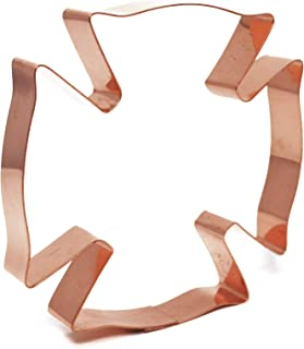 Maltese Cross Fire Badge Copper Cookie Cutter