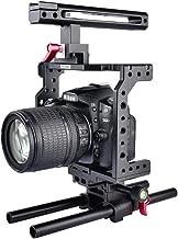 قفص الكاميرا - حامل قفص كاميرا فيديو بمقبض يلانغو C8 لكاميرات كانون 5D مارك IV II 6D 7D لكاميرا نيكون دي اس ال ار مع لوحة سريعة الإصدار A1 AHPK-4000460481673-001