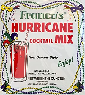 Franco's New Orleans Style Hurricane Cocktail Mix, 9 Ounces - Makes 1 Quart (Packaging May Vary)