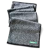 FACESOFT Activated Charcoal | Personal Yoga Sweat Towel: Naturally Infused | Detox Your Skin & Antimicrobial | Free of Harmful MicroFibers
