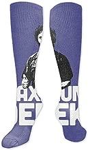 Black Leopard Compression Socks Women Men Funny Socks for Running,Cycling,Sports,Nurse,Warm