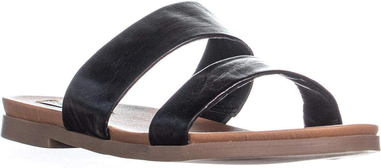 Steve Madden Womens Judy Leather Open Toe Casual Slide Sandals