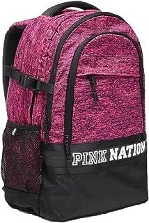Victoria`s Secret PINK Campus Backpack College Bag Marl Pink/Black