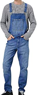 Men's Denim Dungarees Bib and Brace Cotton Overalls Blue Jeans Cowboy Trousers Multi Pocket Casual Workwear Overalls for A...