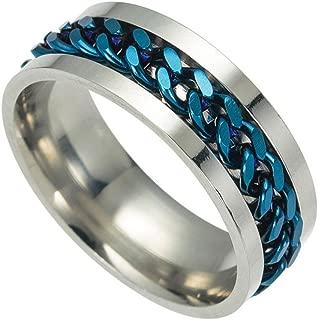 Men's Titanium Steel Chain Rotation Ring Cross Border Jewelry Ring