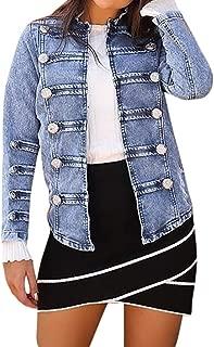 TOTOD Denim Coat Jean Jacket Women Vintage Upset Outwear Loose Fleece Inner Button Oversize Tunic Streetwear