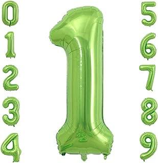 Tellpet Number 1 Balloon, Green, 40 inch