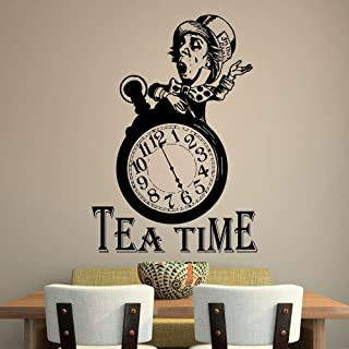 NA Decals Wall Stickers Sayings Lettering Room Home Wall Decor Mural Art Alice in Wonderland Quote Tea Time Quotes Mad Hatter Tea Party Stickers Tea Lover Gift Dining Decor