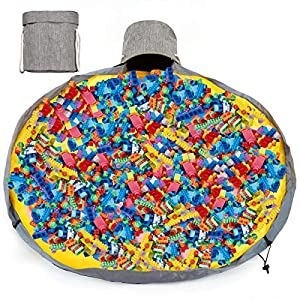 Large Play Mat and Organizers Bag, Quick Toy Storage Swoop Bag, Thickened Oxford Portable Organizer for Indoor or Outdoor Use, Container Baby Dolls, Lego Duplo