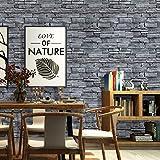 Papel pintado de piedra 3D, autoadhesivo, ladrillo de pared, papel pintado industrial, adhesivo para pared, pared de piedra, para salón, dormitorio, pasillo, 0,45 x 6 m