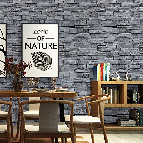 Papel pintado de piedra 3D, autoadhesivo, ladrillo de pared, papel pintado industrial,...