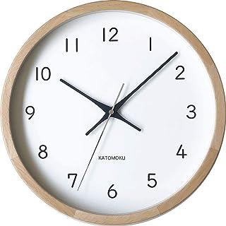 KATOMOKU muku clock 13 ナチュラル 電波時計 連続秒針 km-104NARC φ306mm