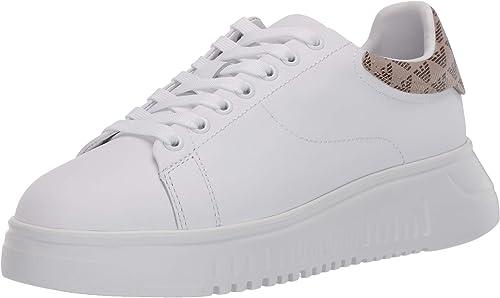 Emporio armani  sneakers in pelle da donna X3X024XM327R779