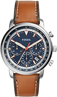 Fossil Leather Casual Watch For Men - FS5414