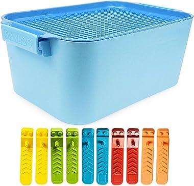 FunPa Toy Storage Box Professional Plastic Toy Storage Case Toy Storage Organizer Toy Container for Kids