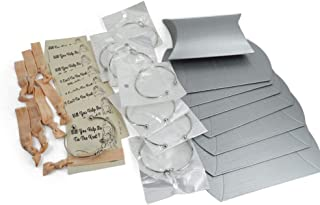 Bridesmaid Gifts 7 Silver Knot Bracelet, Hair Ties, 2 Sides Proposal Card & Gift Box. Ask Bridal Party With Beautiful Presents.