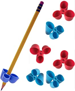 The Pencil Grip Writing CLAW for Pencils and Utensils, Medium Size, 6 Count Blue/Red (TPG-21206)