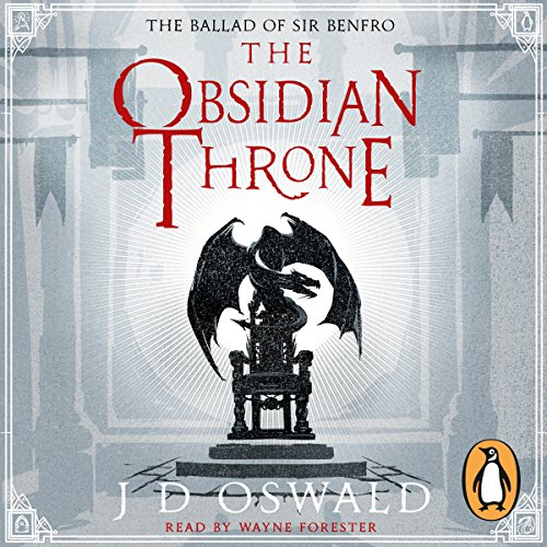The Obsidian Throne audiobook cover art