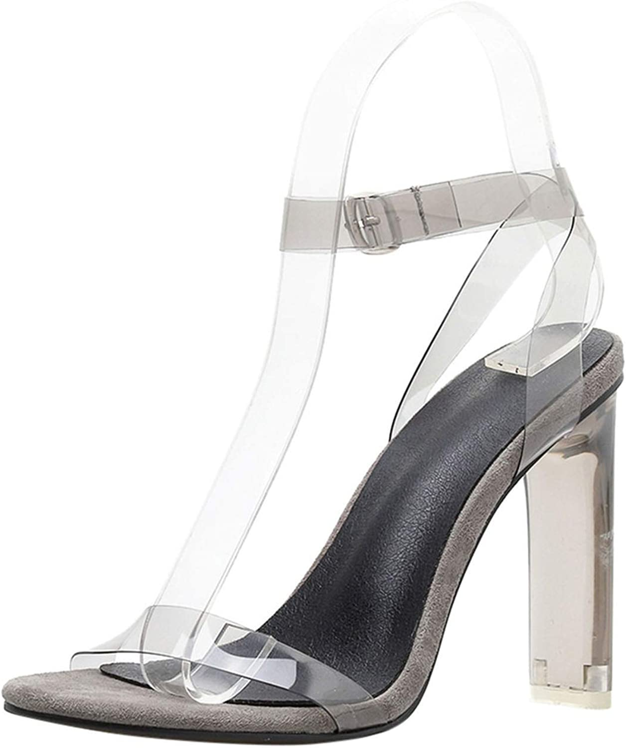 Transparent Fine Heel Sexy Peep High Heels Sandals Party shoes Sandalia Feminina