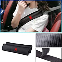 Longzhimei for NISSAN X-Trail 350Z Juke Qashqai Leaf Navara Seat Belt Cover Carbon Fiber Texture with Reflective Sticker 2pcs Car Safety Seat Belt Pads Shoulder Strap Cover