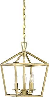 Savoy House 3-320-3-322 Townsend Pendant, 3-Light Total 360 Watts, Warm Brass