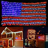 MZD8391 American Flag Lights, 420 Super Bright LEDs Flag Net Light,Waterproof US Flag Light for Memorial Day Independence Day July 4th National Day Decorations