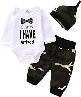 Baby Boy Girl Clothes Romper Outfits 3Pcs Newborn Romper +Pants+Hat 0-24Months