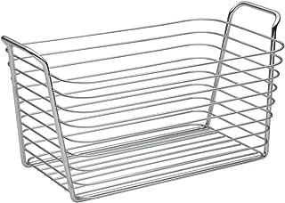 InterDesign Classico panier rangement, moyen panier en métal avec poignées, corbeille rangement pour accessoires de salle ...