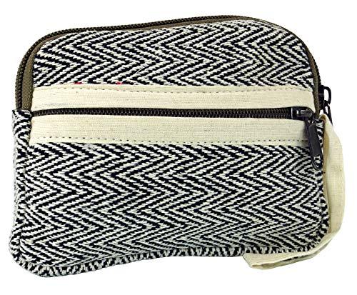 Guru-Shop Ethno Portemonnaie, Mäppchen - Schwarz, Herren/Damen, Baumwolle, Size:One Size, 10x15x2 cm, Portemonnaies aus Stoff