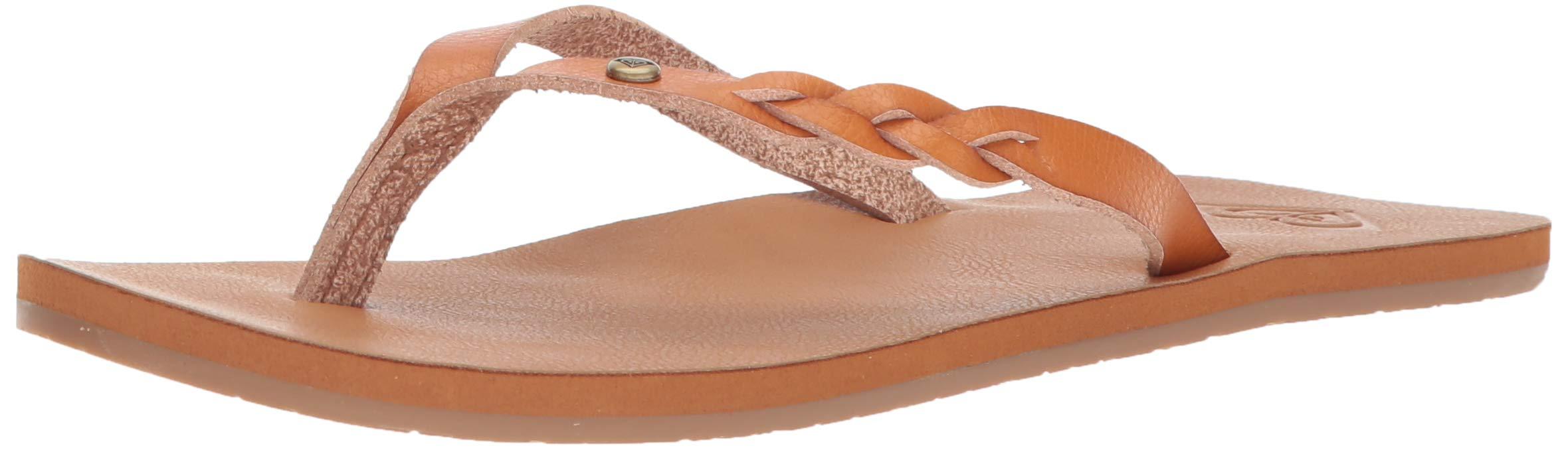 Roxy Womens Sandal Flip Flop Brown