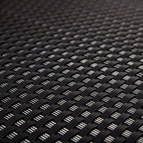 Telo protettivo per terrazze e terrazze, in rattan sintetico, nero, 0,9 m di larghezza (merce al metro)