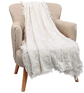 Walhome Knit Throw Blanket Soft Warm Textured for Couch Sofa Bed Office Chair Camping Gift on Mother's Day Valentine's Day Thanksgiving Throw Blankets for Adults Women Girls Babies Pet 50x70